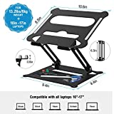 Adjustable Laptop Stand, FYSMY Ergonomic Portable