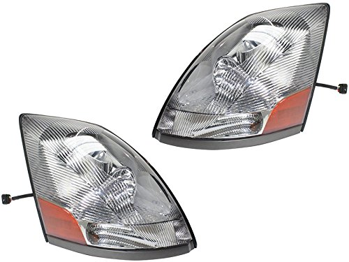 Eagle Eyes VL001-B001L VL001-B001R Fit 2004-2015 VOLVO VN VNL Head Lamp Pair