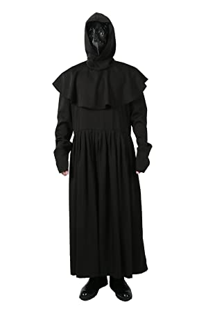 Amazoncom Xcoser Plague Doctor Mask Costume Robe Cloak Outfit