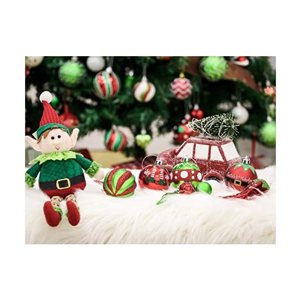 Victor's Workshop Addobbi Natalizi 70 Pezzi di Addobbi Natalizi per Albero, 3-8 cm Delizioso Elfo Infrangibile Ornamenti di Palla di Natale Decorazione per la Decorazione Dell'Albero di Natale 6 spesavip