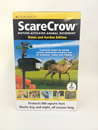 Contech Scarecrow Sprinkler Animal Deterrent Home and Garden Edition
