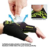 MOREOK Mens Cycling Gloves,Half Finger Biking Glove