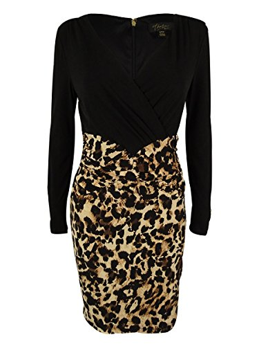 Thalia Sodi Women's Ruched Dress (M, Leopard)