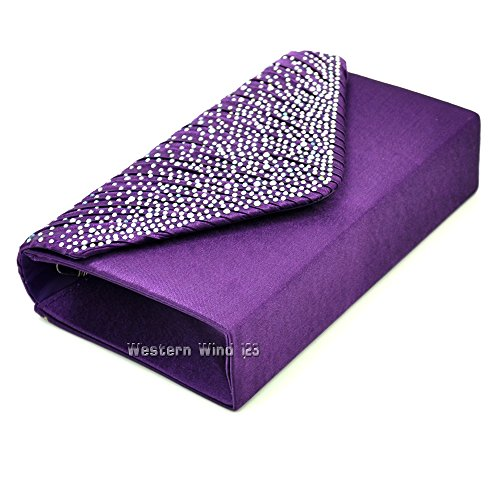 handbag purse Wocharm lace navy clutch Purple wedding red womens fashion bridal black evening wallet lace cream bag satin bag satin ladies qx1awTq8r