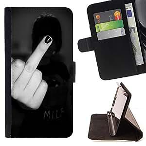 Devil Case- Estilo PU billetera de cuero del soporte del tir¨®n [solapa de cierre] Cubierta FOR Samsung Galaxy S6 G9200- Kidding Funny Pattern