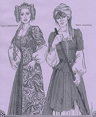 Alter Years 14th and 15th Century Easy Medieval Front-Opening Buttoned or  Laced Kirtle Gown Pattern