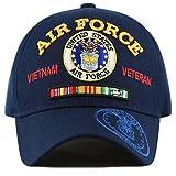 THE HAT DEPOT Official Licensed U.S. Military Vietnam Veteran Ribbon Cap (Navy-Air Force)