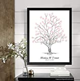 Guestbook Tree, Wedding Guest Book Alternative, Twisted Oak Tree, Thumbprint, Fingerprint (Guestbook Sizes: 13'' x 19'' to 24'' x 36'')