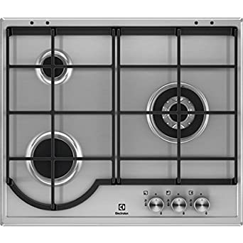Electrolux EGH6333BOX hobs Acero inoxidable Integrado Encimera de gas - Placa (Acero inoxidable, Integrado, Encimera de gas, Acero inoxidable, 1000 W, ...