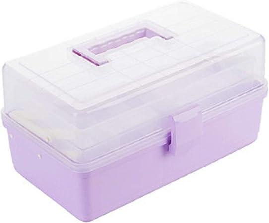 WOOAI Kit de Primeros Auxilios Caja de Almacenamiento médico, multifunción, Organizador de plástico para Viajes, Caja de Medicina, Kit de Supervivencia para Senderismo, plástico, Ciruela, Large: Amazon.es: Hogar