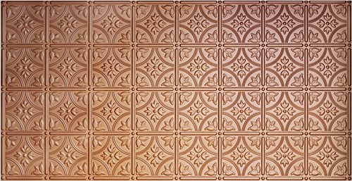 Matte Copper Backsplash (Global Specialty Products Pattern No.209 Tin Style Panel, 2 by 4-Feet, Copper)