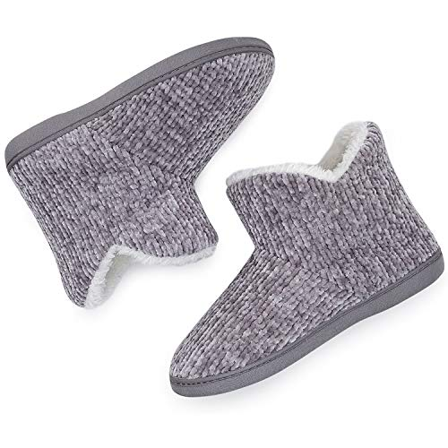 Details about  /TUOBUQU Womens Warm Bootie Slippers Fluffy Plush Indoor Outdoor Winter Comfy Hou