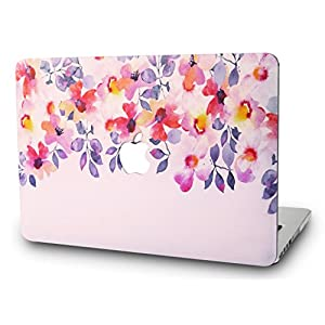 "KEC MacBook Pro 15"" Retina Case (2014) Cover Plastic Hard Shell Rubberized A1398 (Flower 2)"
