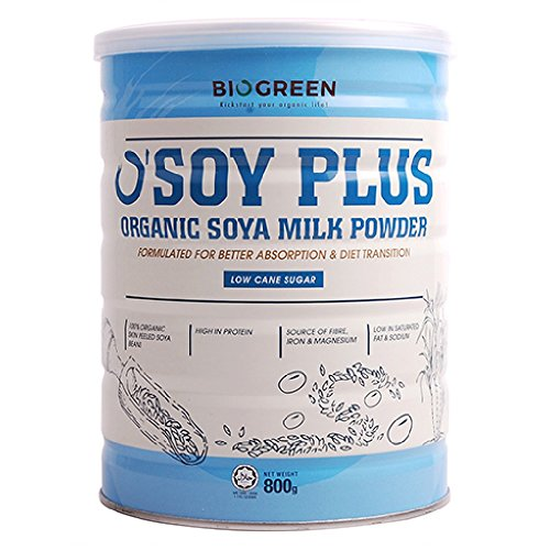 Biogreen Organic Low Sugar Soy milk 800g (628MART) (12 Count) by Bio Green (Image #1)