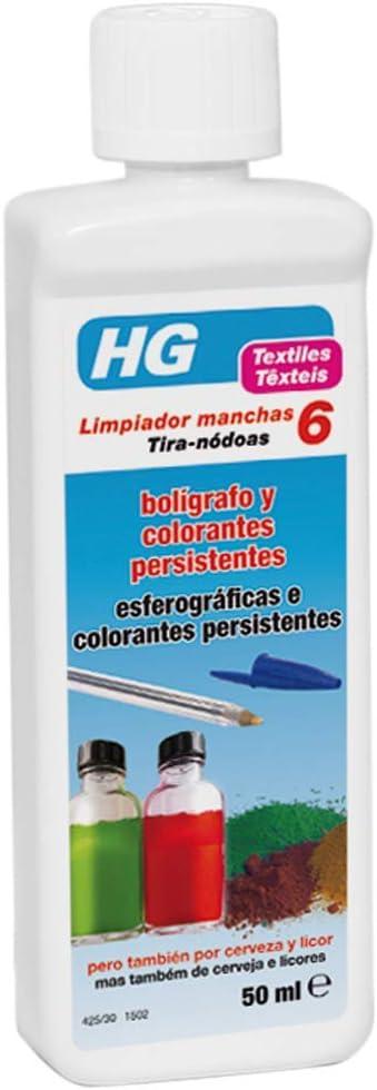 HG Limpiador Manchas Bolígrafo y Colorantes Persistentes - 50 ml: Amazon.es: Salud y cuidado personal