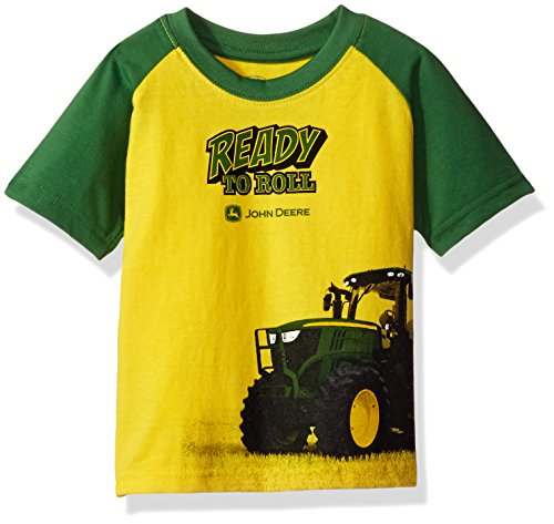 John Deere Baby Toddler Boys' Graphic Tee, Yellow/Green, 3T