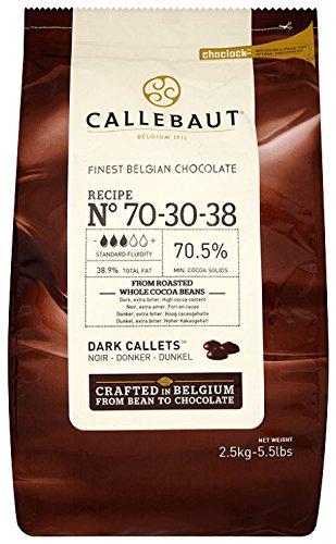Callebaut Chocolate Dark 70.5 Percent Easi-Melt Buttons Callets 2.5 Kg