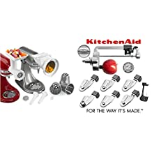 KitchenAid Ultimate Stand Mixer Attachment Packages - Fits All KitchenAid Stand Mixers (KSM2AP - KGSSA 7 Blade Spiralizer and Rotor Slicer Shredder and other parts)