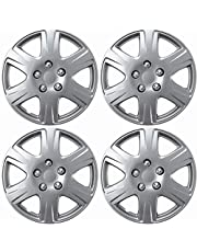 amazon hubcaps hubcaps trim rings hub accessories Blue Hubcaps motorup america auto hubcap set of 4 15 inch snap on wheel covers fits