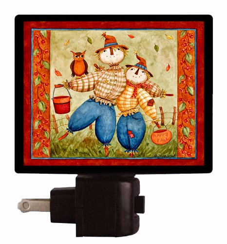 [Fall / Autumn Night Light - Fall-n-for-You - Scarecrow Night Light] (Cute Scarecrow Costumes)