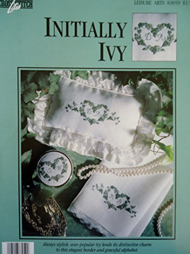 Initially Ivy - Counted Cross Stitch Pattern - Leisure Art #83059 ()