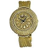 Burgi Women's BUR051YG Crystal Mesh Bracelet Watch