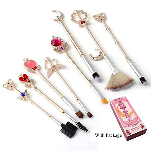Sailor moon Makeup Brushes Cardcaptor Sakura Makeup outfit/Makeup Brush Women Gift(Sailor moon Rose)