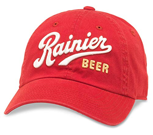 American Needle Ballpark Rainier Beer Baseball Dad Hat (PBC-1901I-RED)