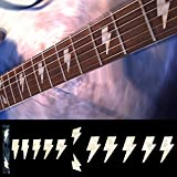 Fretboard Markers Inlay Sticker Decals for Guitar & Bass - AC/DC Lightning Bolt