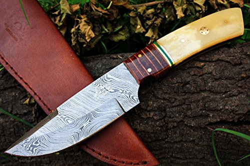 DKC-192 SPIRIT HUNTER Damascus Tanto Bowie Hunting Handmade Knife Fixed Blade 9 oz 9.5