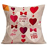 Robiear-Pillow-Cover-Lovers-Painting-Linen-Cushion-Cover-Gift-For-Valentines-Day-43cm44cm-43cm44cm-D