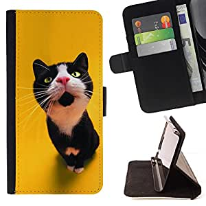 Momo Phone Case / Flip Funda de Cuero Case Cover - El gato curioso - Samsung Galaxy S3 III I9300