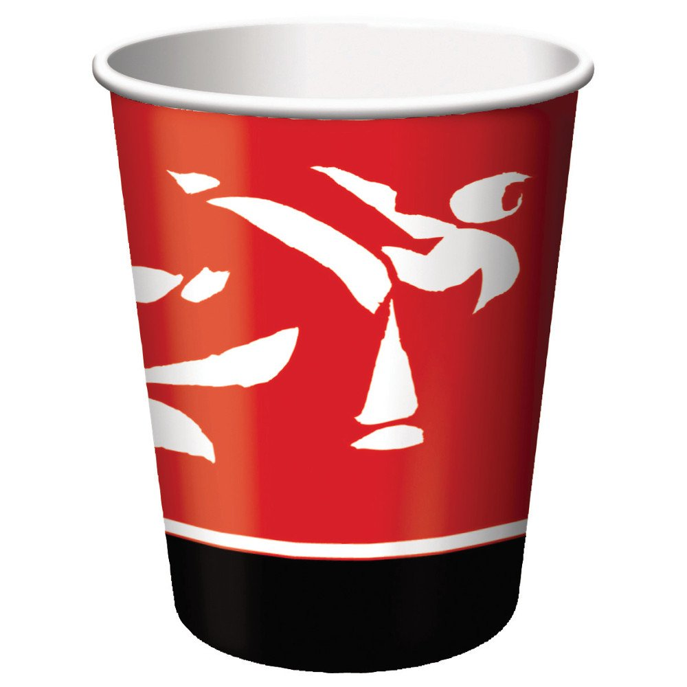 9-Ounce Creative Converting Black Belt Birthday 8 Count Paper Cups