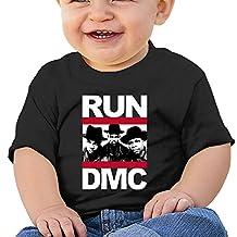 PONTAON Kids Toddler Hip Hop RUN DMC Short Sleeve Little Boys And Girls T-shirt Black 18 Months