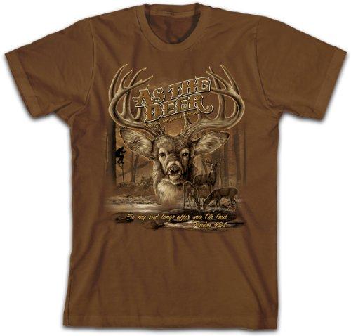 As the Deer 2, Tee, 3X, Choc
