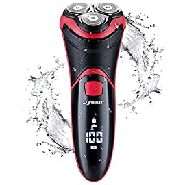 electric razor for men waterproof - 51bT7 abBUL - Electric Razor for Men Waterproof, DynaBliss Mens Electric Shavers Wet/Dry Rechargeable and Cordless Rotary Shaver with Travel Lock and Pop up Trimmer