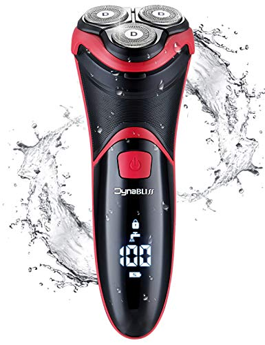 Electric Shaver for Men Waterproof, DynaBliss 3D Razor Quick Rechargeable Man's Wet/Dry Rotary Shaving with Pop-up Trimmer