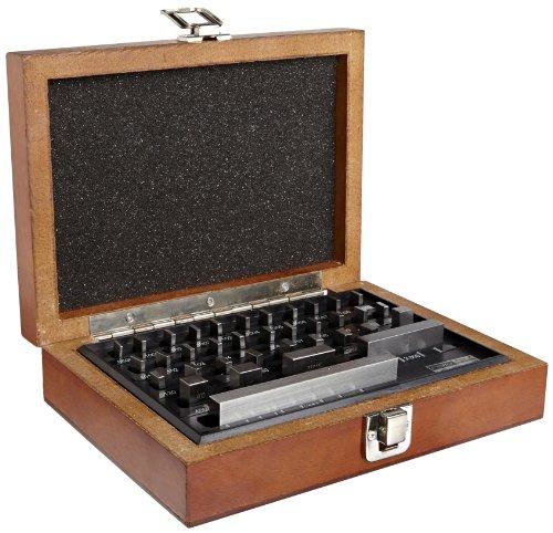 (Fowler Full Warranty 53-672-036-0 Steel Shop-Blox Rectangular Economy Gage Block Set, 36 Piece)