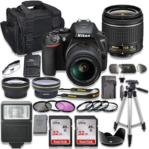 Nikon D3500 DSLR Camera with AF-P 18-55mm VR Lens + 2 x 32GB Card + Accessory Kit