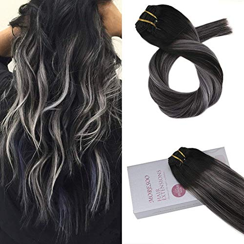 Clip in hair extensions for black hair