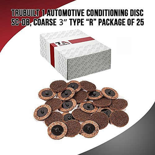 TruBuilt 1 Automotive Conditioning Disc SC-DB, Coarse 3'', Type R   Package of 25 3 inch Grinding Disks   Compare to 3M 07485 ROLOC 3'' Coarse Surface Conditioning Discs by TruBuilt 1 Automotive (Image #1)