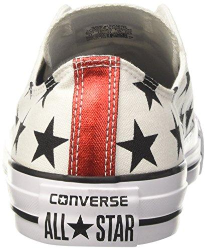 A red Ox Donna Ctas Bianco Collo white Basso Sneaker Converse black Hv7txqwTx
