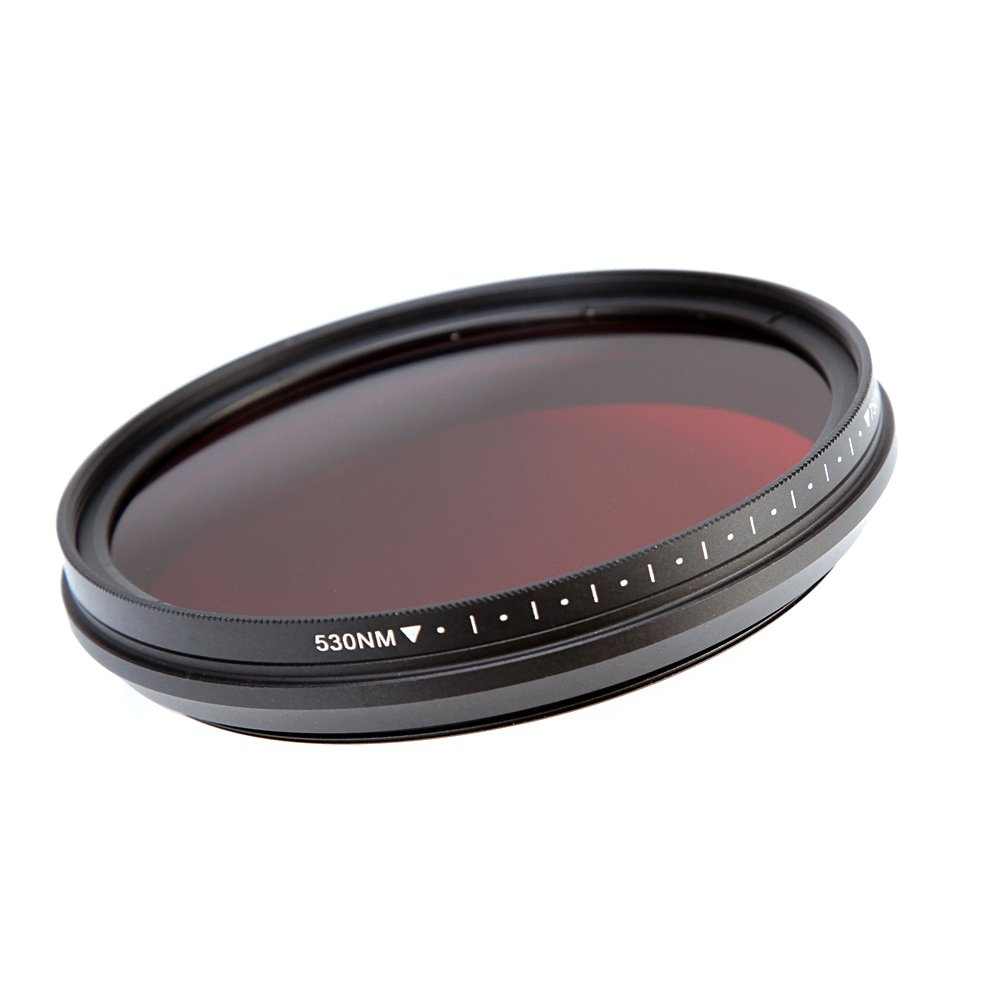 Fotga 77mm Six-in-One Adjustable Infrared IR Pass X-Ray Lens Filter 530nm to 750nm