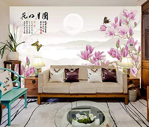 Wall Mural 3D Wallpaper Simple Flower Flower Bird and Plum Modern Wall Paper for Living Room Bedroom Tv Wall Decor