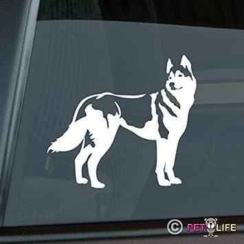 car Sticker Husky Sticker Vinyl Decal Sticker for Cars Walls Black and White Husky car Decal Trucks Laptops 11 Windows