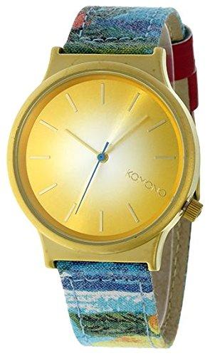 Komono MOKOPRINT-000BP - Reloj para mujeres, correa de cuero color beige