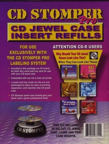 (Stomp Inc. CD Stomper Pro CD Jewel Case Inserts Refill)