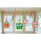 """Amscan Hip and Hop Yo Gabba Gabba Value Pack of Swirl Birthday Party Decorations,10"""" x 9.5"""", Pack of 12."""