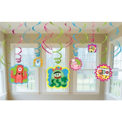 Hip and Hop Yo Gabba Gabba Value Pack of Swirl Birthday Party Decorations,10