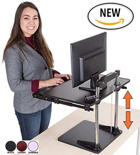 The Uptrak Metro Standing Desk & Bonus Keyboard Tray | Sit-to-stand Desk Converter By Award-winning  Icon